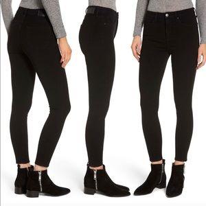 Leith black high waisted skinny jeans 25